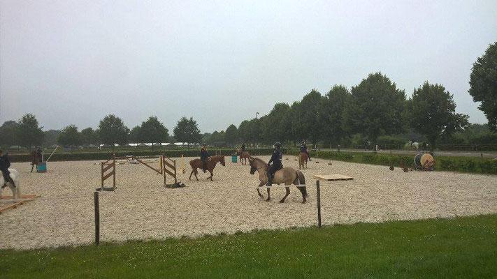 1er entraînement : Anouk et Tyra pour le trail. Photo : Agathe de Pas