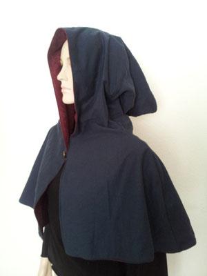 Mittelalter Schulterumhang mit Kaputze