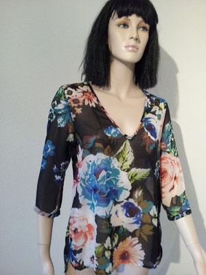 HAWAII/FLOWER POWER, Bluse Gr. M/L, Fr. 12.-