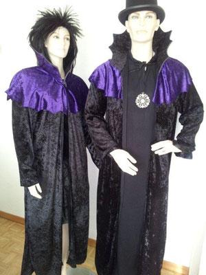 HALLOWEEN-Mantel, Dracula oder Hexe, Gr. M/L, Fr. 22.- (2 Stk.)