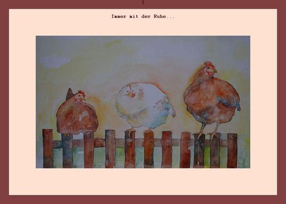 Ruhende Hühner