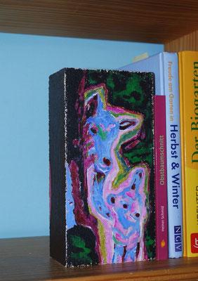 Ziegen abstrakt auf Kalksandstein