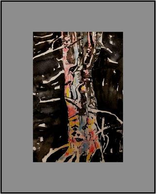 Baum im Sturm...gemalt bei Sturm am 5.10.17