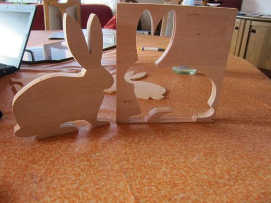 Holz-Hase / kreativ-fraesen