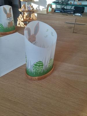 Windlicht Osternest / kreativ-fraesen