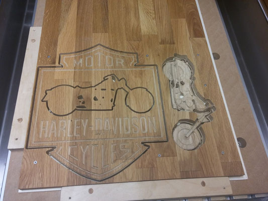 Harley Davidson Motrorrad von kreativ-fraesen.de