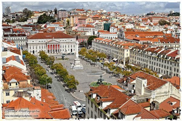 Praça do Rossio - Lisbonne © Nicolas GIRAUD