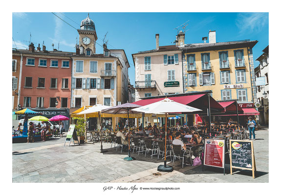 Place  Jean Marcellin  - Gap © Nicolas GIRAUD