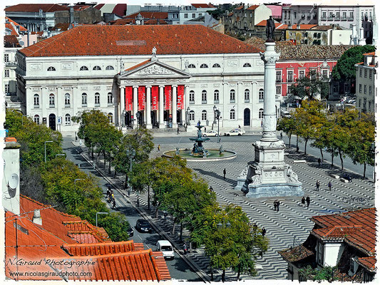 Praça Dom Pedro IV - Lisbonne © Nicolas GIRAUD