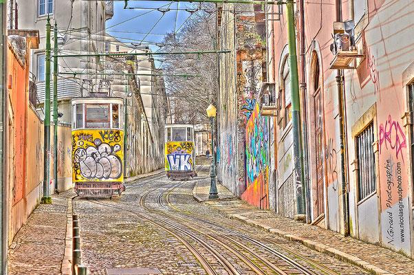 Ascensor da Gloria - Lisbonne © Nicolas GIRAUD