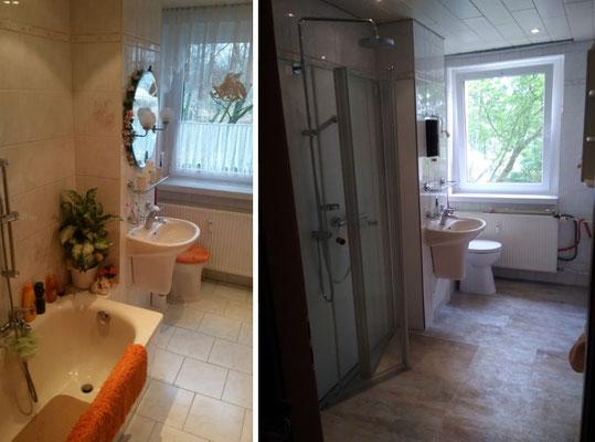 Umbau Badewanne zu ebenerdiger Dusche