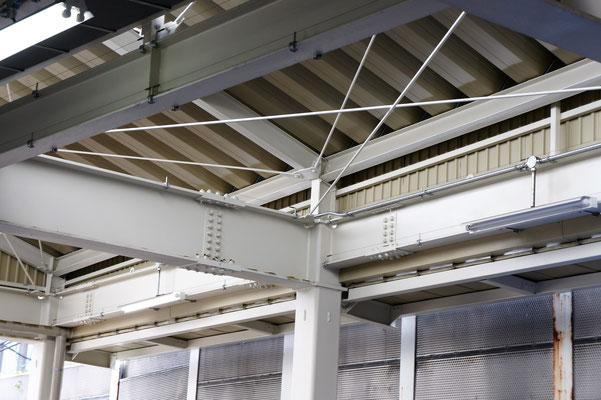 淀橋市場(東京都新宿区) ;2012年8月設置 ; アルティマ防鳥ワイヤー