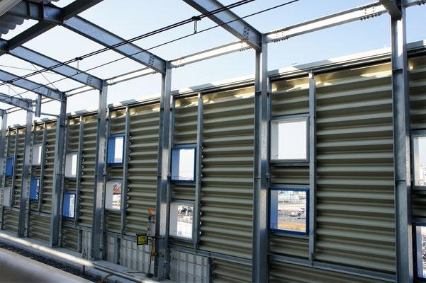 南武線南多摩駅(東京都稲城市) ;2013年2月設置 ; アルティマ防鳥ワイヤー