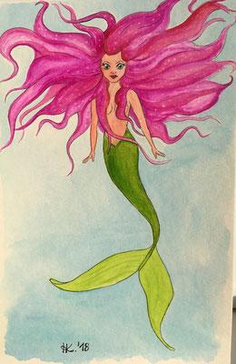 Meerjungfrau in Pink - Pink mermaid
