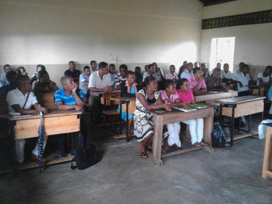 Les enseignants en formation le 6 mars 2019