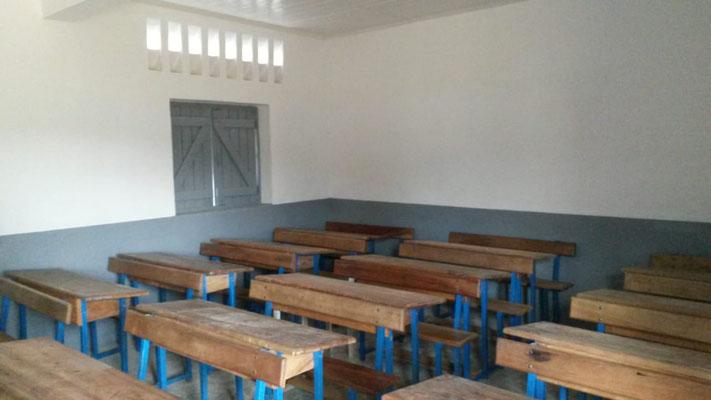l'intérieur de la classe restaurée