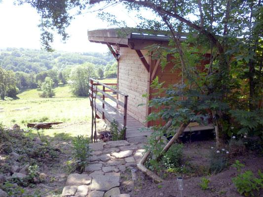Sauna avec espace détente dominant la vallée de la Tardes