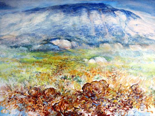 NOURRITURES TERRESTRES - Saint Lions -  2017 -60x80, ocres,  pigments et liant vinylique