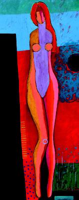 mujer naranja