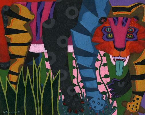 tigre de cuatro ojos