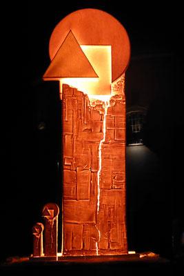 "Sculpture de Feu ""Reminiscence Bauhaus"", collaboration avec Reinhard Keitel, Weimar (Allemagne) 2019"