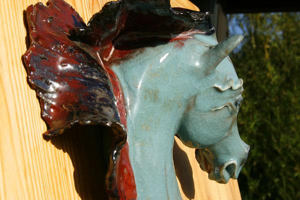 VERLAINE: sculpture murale céladon 1,20m - 2007