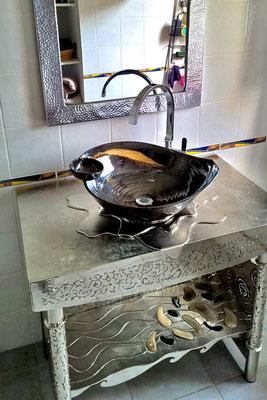 meuble et vasque  KERAMSTEEL®