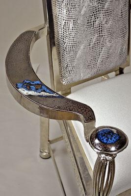 Fauteuil de Mariage: caquetoire renaissance revisité  KERAMSTEEL®