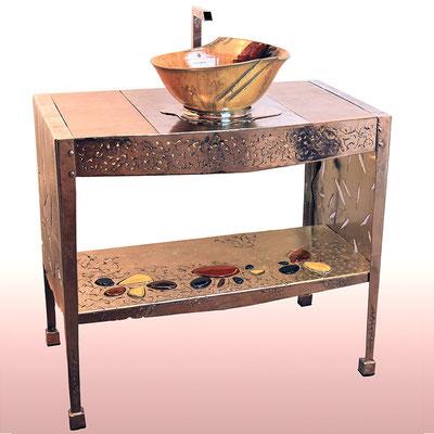 LOTUS: meuble et vasque  KERAMSTEEL®