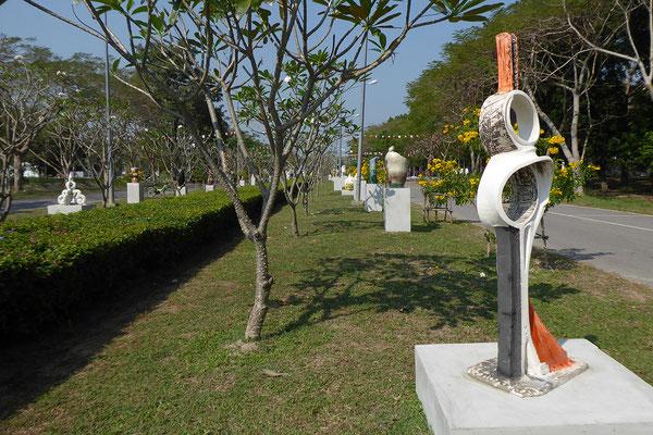 """Infinity"" 1,75 m - Symposium Raku Université Silpakorn Thailande 2018"