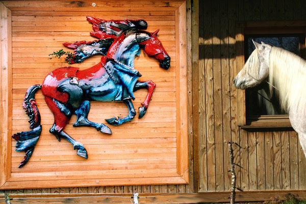 """""""Buxival"""", sculpture murale 1,80m, 2006"""