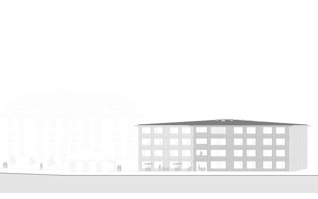 Ansicht Fassade Wettbewerb Altersheim Huttwil
