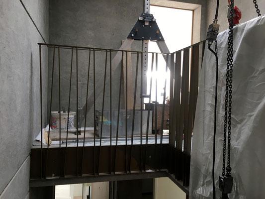Geländerabschluss im Attikageschoss.