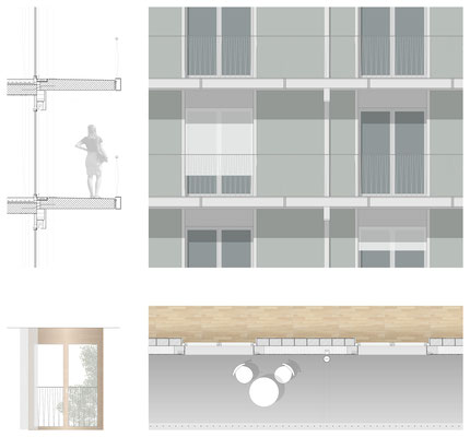 Detailplan Fassade/Balkon