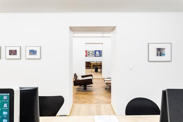 Empfang und Büro; Bild © Peter Baracchi, Mai 36 Galerie