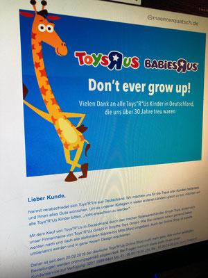 Toys R Us verabschiedet sich von seinen Kunden in Deutschland, Smyths Toys übernimmt alle Filialen. Männerquatsch Podcast #44 (Bowser übernimmt Nintendo, Toys R Us Abschied, J.R.R Tolkien Filmbiographie)