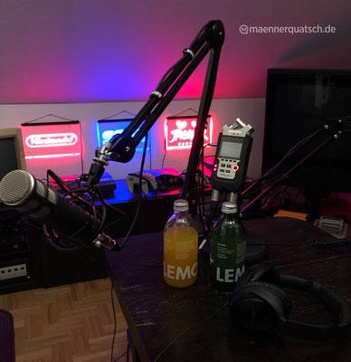 Wir genießen Lemonaid Maracuja und Lemonaid Limette in Männerquatsch Podcast Folge  #41 (Nintendos Zukunftspläne, Sim City für das NES, der Carlton Dance in Fortnite)
