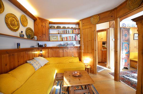 Camera/Zona giorno - Appartamento in affitto ad Alverà, Cortina d'Ampezzo