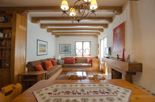 Zona giorno - Appartamento in affitto Cortina d'Ampezzo