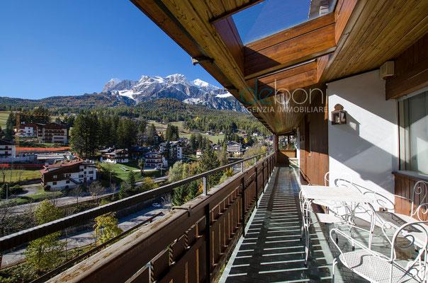 Panorama dal poggiolo - Attico di lusso in affitto a Cortina d'Ampezzo