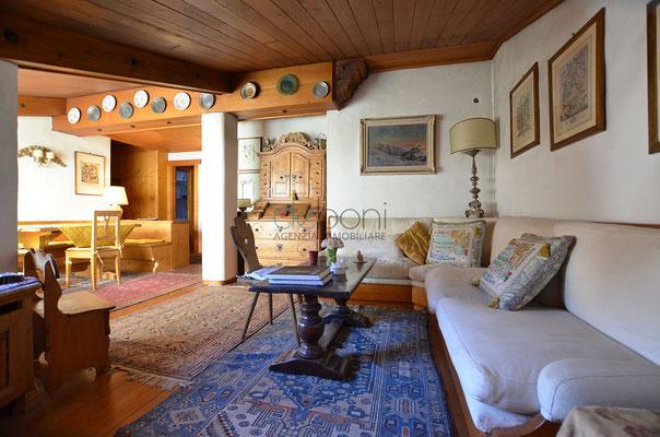 Soggiorno - Appartamento centrale in affitto Cortina d'Ampezzo