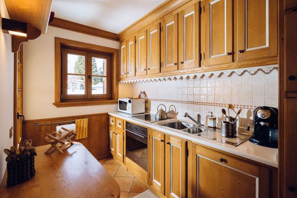 Cucina - Appartamento in affitto Zuel, Cortina d'Ampezzo