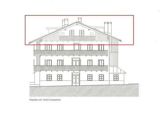 Progetto - Attico da ristrutturare in vendita a Cortina d'Ampezzo