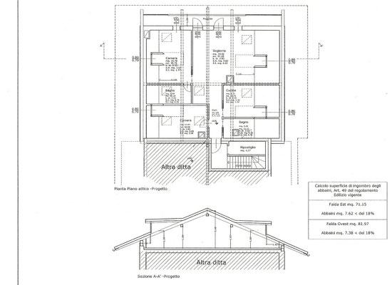 Piantina - Attico da ristrutturare in vendita a Cortina d'Ampezzo