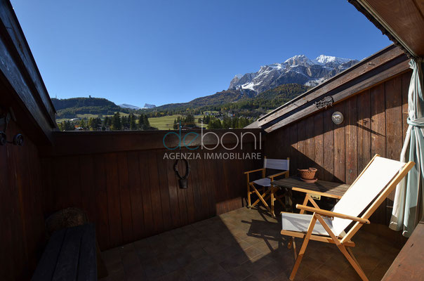 Terrazza sul tetto - Appartamento centrale in affitto Cortina d'Ampezzo