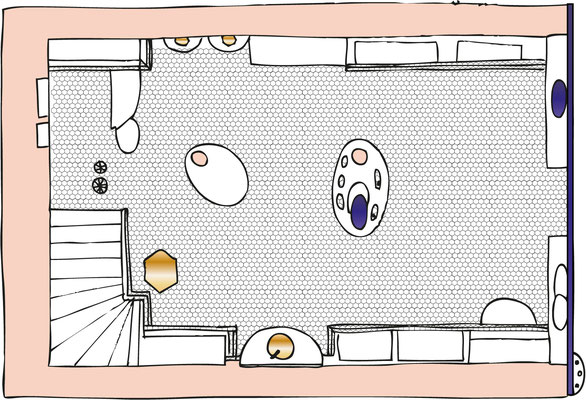 Plan au sol - floor map