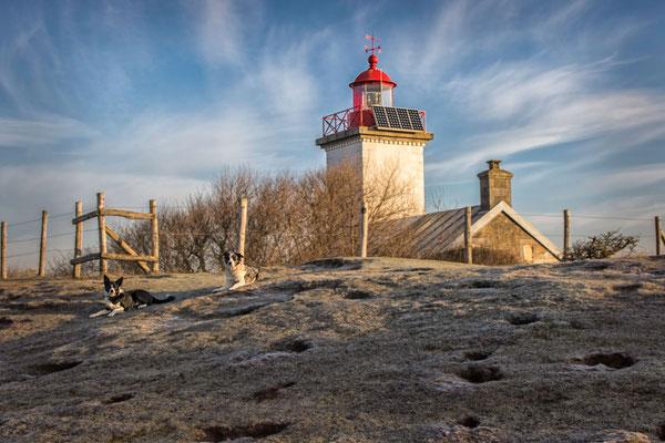 Die Pointe d'Agon besticht mit Natur, einem Leuchtturm und ...