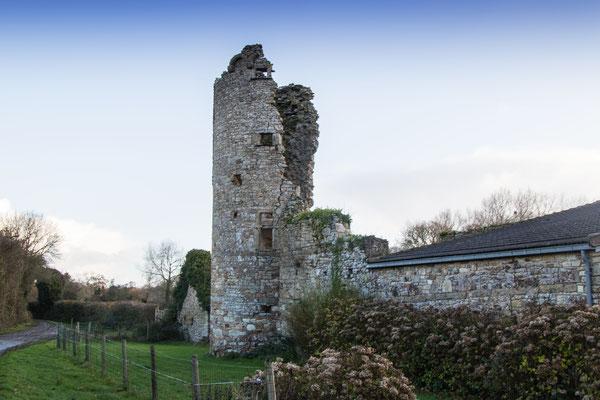Sogar ein paar Ruinen gibt es am Manoir zu bewundern. Der alte Turm ist wesentlich älter als die restlichen Gebäude und soll laut Hinweistafel aus dem 15. Jahrhundert stammen.