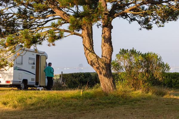 Campingplatzidyll am Havre von Regnéville
