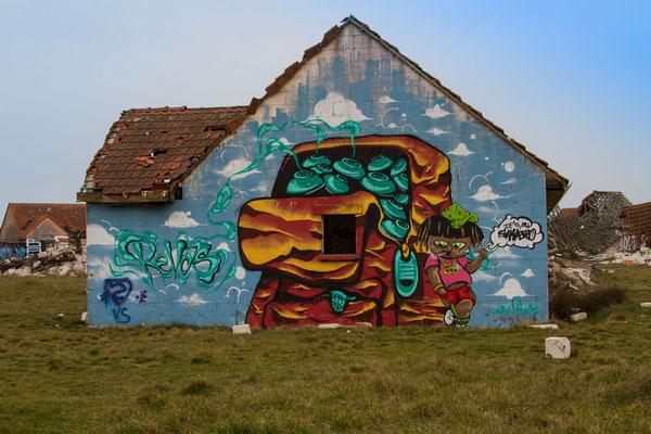 """""""Village Fantôme"""" in Pirou-Plage, Immobilienskandal, Normandie"""
